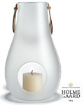 Holmegaard Lanterne Design with light 29 cm frostet -