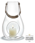 Holmegaard Lanterne Design with light 25 cm klar -