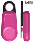 Safe alarm, clip on rosa -